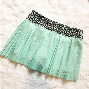 Lululemon Pleat to Street Teal Tennis Skirt